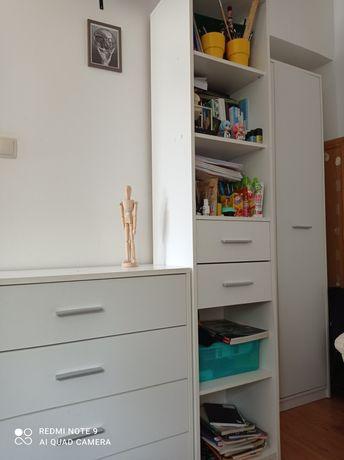 Komplet białe meble komoda regał szafa szafka nocna półka BRW