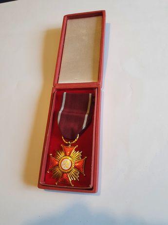 Stara odznaka złoty krzyż medal PRL