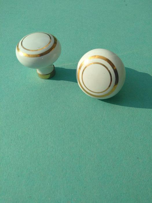 Puxador Porcelana Friso Dourado Cidade Da Maia - imagem 1