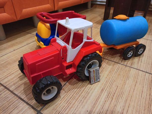 Игрушки трактор и автомобиль