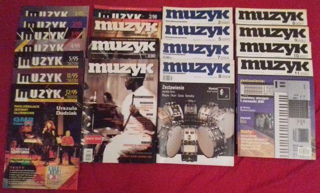 Czasopisma MUZYK : rocznik 93 ,95 , 98 , 2003 , 2004 , 2007 .