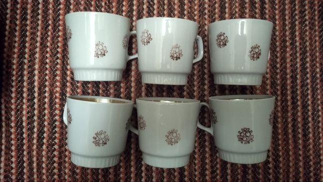 посуда ссср чашки новые чайные кофейные винтаж раритет 200мл 6штук