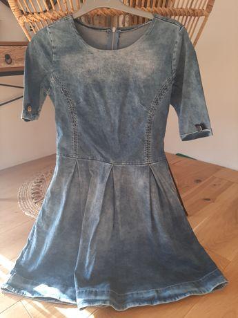 Jeansowa sukienka s/m