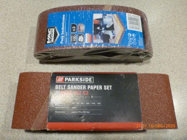 pas pasy bezkońcowy parkside papier ścierny 75 x 457 gr 40 gr 100