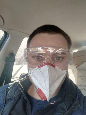 Опт! Очки строительные защитные пластиковые