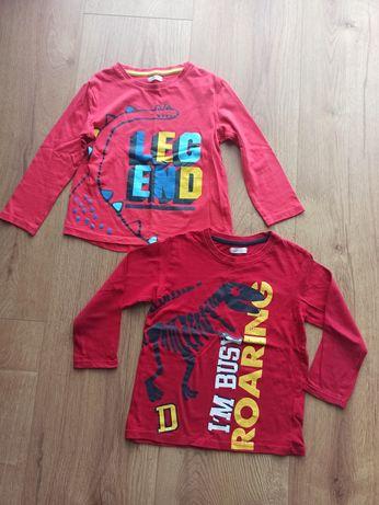 Zestaw: dwie bluzki z długim rękawem chłopięce czerwone - rozmiar 110