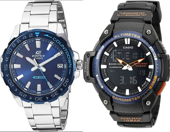 Оригинал водонепроницаемые часы Casio Edifice EFV-120DB и SGW-450H