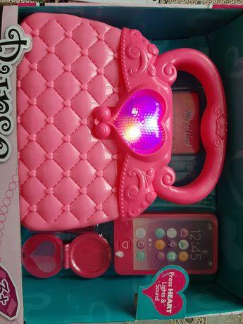 Zestaw dla dziewczynki torebka telefon
