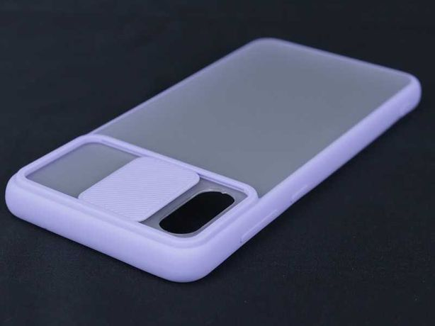 Capa Samsung Galaxy A02 Rígida Bumper Proteção Câmara Lilás *P. GRÁTIS