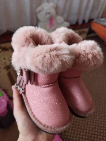 угги paliament, розовые угги, розовые сапожки, сапожки с мехом, кролик