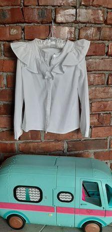 Modna wyjściowa biała bluzka dziewczęca