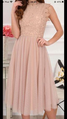 Sukienka wizytowa ślubna M