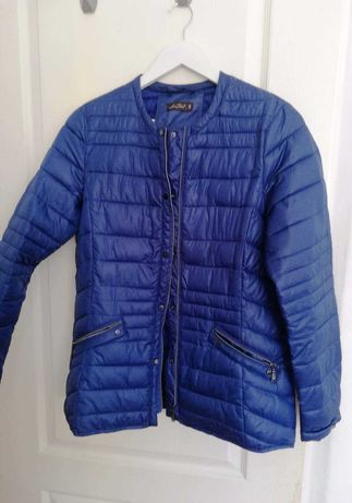 Niebieska pikowana kurtka przejściowa Lava Fabio