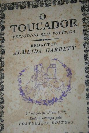 Livro O Toucador de Almeida Garrett edição de 1957