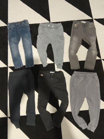 spodnie Zara legi baggy jeansy rurki