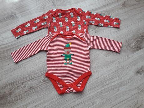 Body niemowlęce z długim rękawem r.68 świąteczne