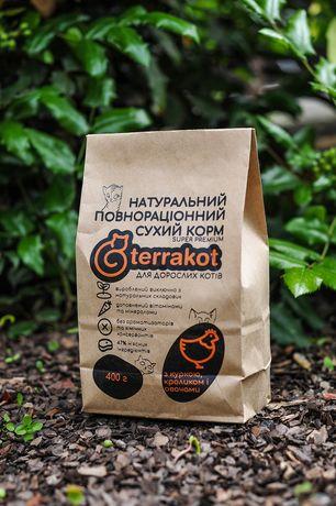 Натуральный полнорационный корм для котов (кошек) Terrakot