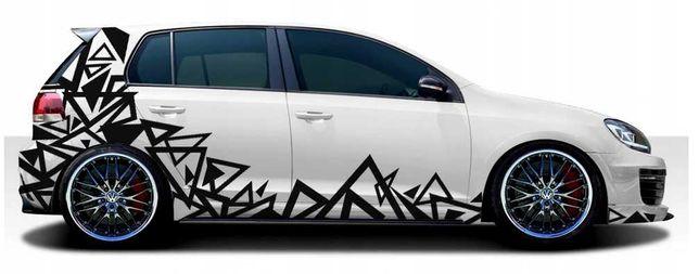 Zestaw naklejek na samochód MOTYW na Auto CAMO kamuflaż Trójkąty