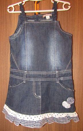 Сарафан джинсовый для девочки orchestra рост 104 см на 3-4 года