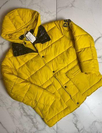 Сезонная распродажа Куртка желтая pépé jeans ххл новая оригинал