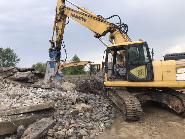 Koparka wykopy ziemia żwir piach kruszywo betonowe wyburzenia ziemia