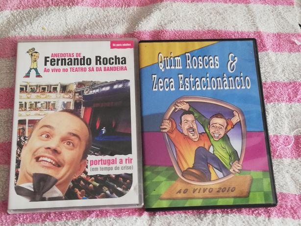 Dvds de comédia ao vivo Fernando Rocha e Quim roscas e Zeca Estacionân