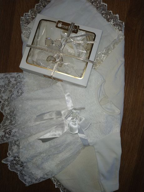 Платье для крещения.Нарядное платье.Набор для крестин