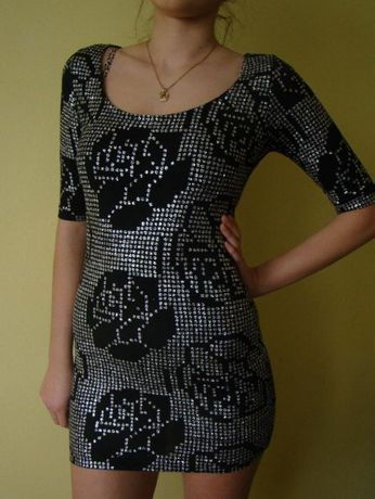 Top Shop sukienka glamour sylwester impreza randka