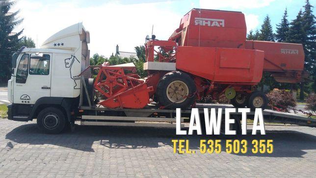 laweta 7 ton, transport ciągników rolniczych, maszyn budowlanych