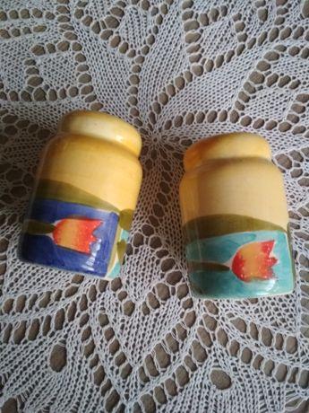 Ceramiczne pojemniczki na sól i pieprz