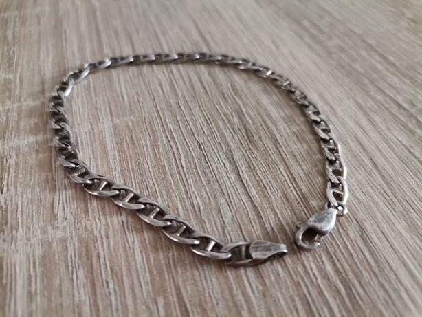 Stara srebrna bransoletka pancerka srebro 925 uniseks