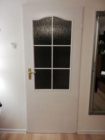 Drzwi wewnętrzne pokojowe 1sztuk prawe 80tki