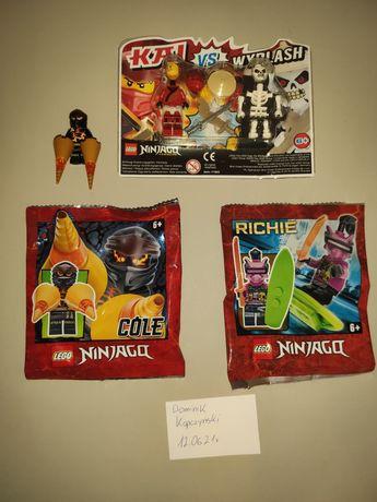 Nowe!! Lego Zestawy Ninjago Polybag Cole Richie Kai Figurki Ludziki