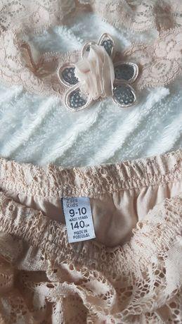 Spódniczka Zara dziewczęca plus opaska na włosy