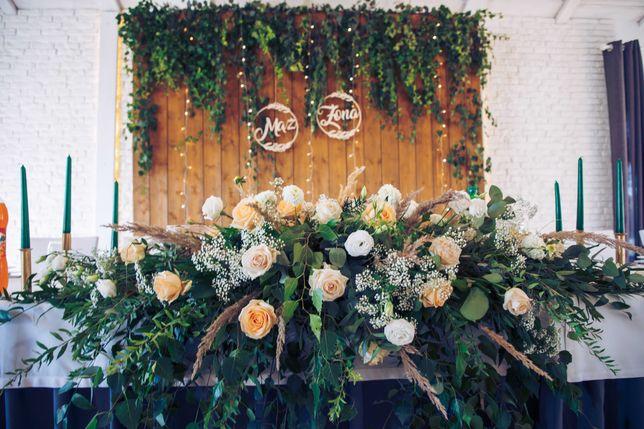 Ścianka weselna drewniana boho rustykalna dekoracja !