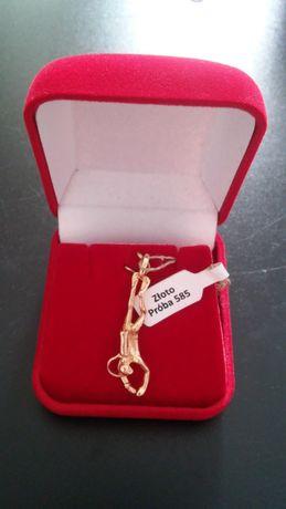 Zawieszka złota nurek- płetwonurek