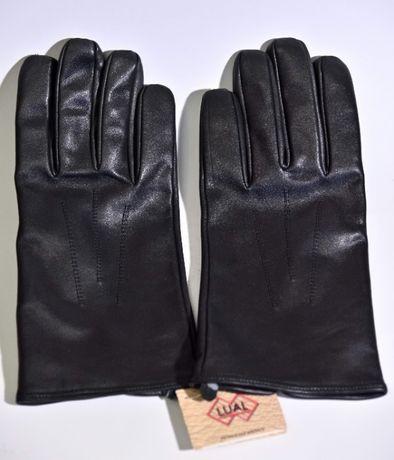 Rękawiczki męskie zimowe ze skóry cielęcej rozmiar 25