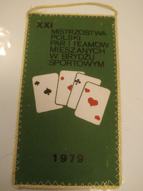 Proporczyk Mistrzostw Polski w Brydżu Sportowym 1979