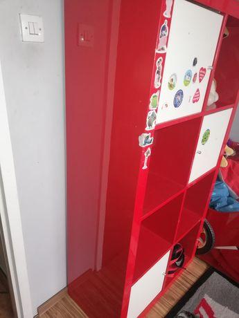 Regał Ikea kallax czerwony połysk