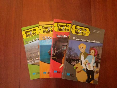 """4 livros da coleção """"Duarte e Marta"""""""
