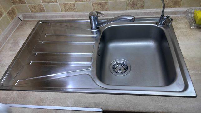 Мойка с смесителем и краном для фильтрованой воды с нержавейки б/у