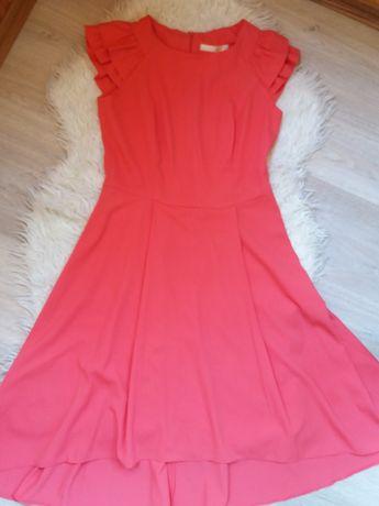 Платье летнее. Очень красивый цвет- холодный коралл