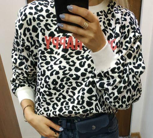 Bluza Zara w zwierzęcy wzór 38 m