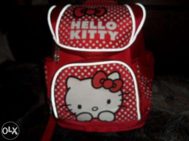 Большой, вместительный школьный рюкзак. Рюкзак Хелоу Китти.