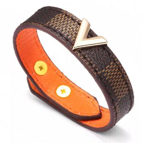 Piękna opaska na rękę bransoletka LV V Louis Vuitton