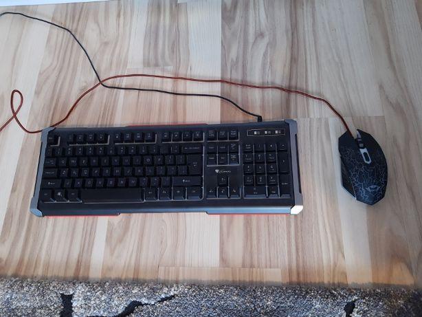Zestaw klawiatura podświetlana i myszka