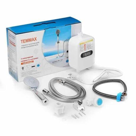 Электрический термостатичный водонагреватель-душ с краном TEMMAX RX-02