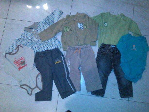 Zestaw ubranka bluzki i spodnie 80,86