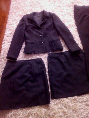 Zestaw marynarka spodnica spodnie kamizelka