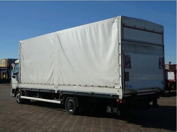Transport krajowy solówka 6 ton winda paleciak, załadunek boczny